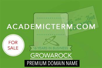 Academic Term Domain Name for Sale   Premium Domain   Growarock
